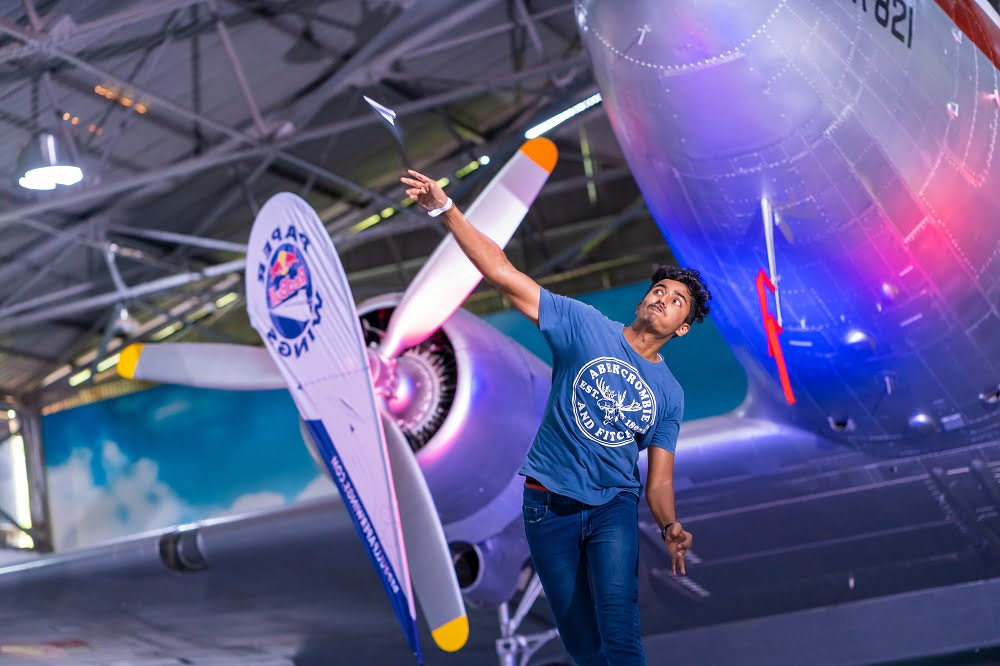Participant performs at Red Bull Paper Wings, at The Sri Lanka Air Force Museum, Ratmalana Sri Lanka, on March 16, 2019 // Dimitri Crusz/Red Bull Content Pool // AP-1YTS5RFTW1W11 // Usage for editorial use only // Please go to www.redbullcontentpool.com for further information. //